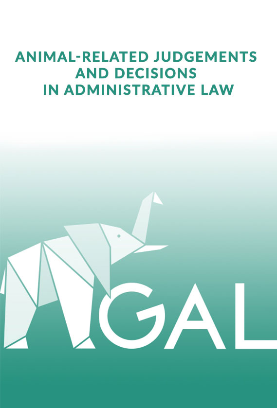 Relevant animal-related judgments in administrative law